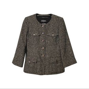 $4700 CHANEL classic tweed boucle jacket runway 36